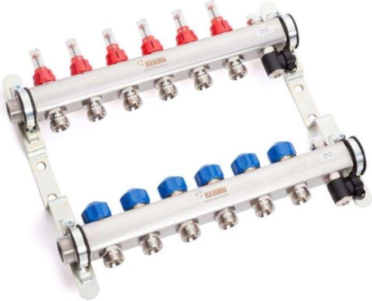 Rehau HKV-D 6 NEREZ rozdělovač podlahového topení 13801601001