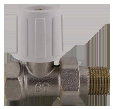 """407D Radiátorový ruční ventil přímý DN10 3/8"""" jednoregulační s hlavicí"""