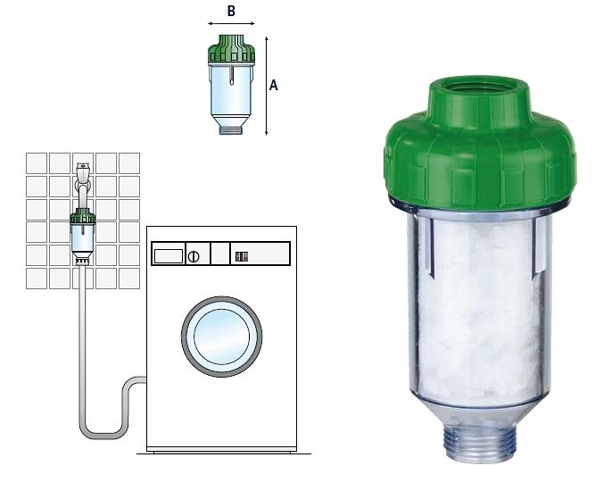 """filtr Atlas Dosal 3/4"""" pro automatické pračky a myčky nádobí"""