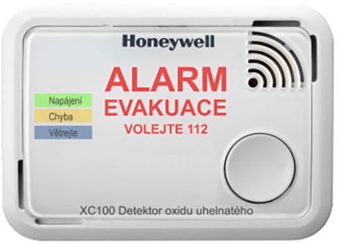 Honeywell detektor oxidu uhelnatého CO alarm XC100-CS