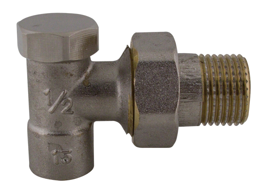 """409 CU15 x 1/2"""" Radiátorový regulační ventil rohový pájecí"""
