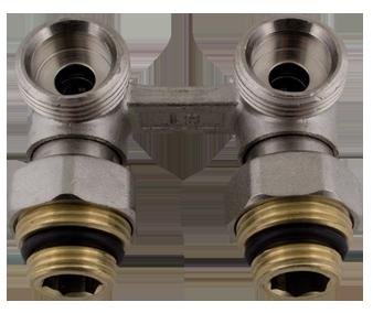 """412 Uzavírací ventil rohový VK s erukonusem včetně redukce 1/2"""" x 3/4"""""""