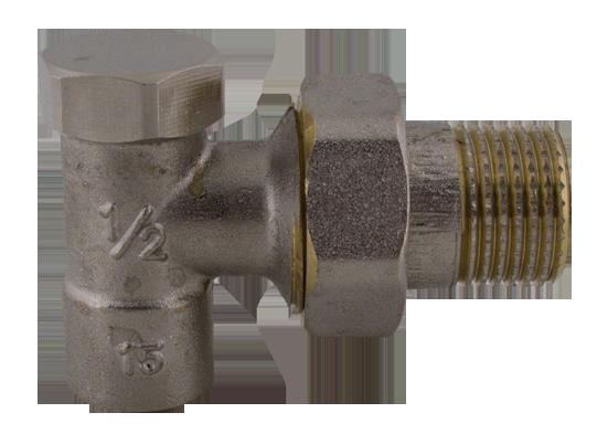 """409 Radiátorový regulační ventil rohový pájecí 1/2"""" x 15"""