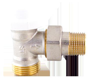 """416 Termostatický ventil radiátorový rohový s regulací DN15 1/2""""x3/4"""" s eurokonusem"""