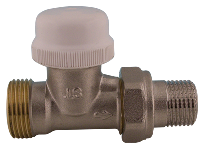 """416D Termostatický ventil radiátorový přímý s regulací DN15 1/2"""" x 3/4"""" s eurokonusem"""