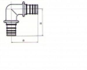 Rehau Rautherm S 17 12588971002 koleno 90°pro ohyb trubek