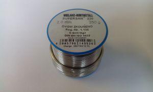 Měkká pájka SUPERSAN 2 mm L-SN 97AG 3 250 g