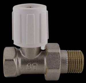 """407D Radiátorový ruční ventil přímý DN10 1/2"""" jednoregulační s hlavicí"""