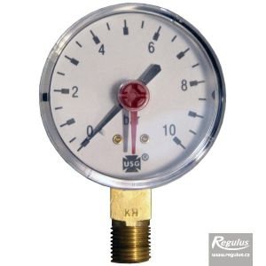 "Regulus Tlakoměr 10 bar, G 1/4"" dolní, d= 63 mm 3822"