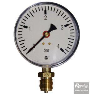 "Regulus Tlakoměr 4 bar, G 1/2"" dolní, d= 100 mm 2170"