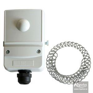 Regulus termostat provozní zakrytovaný příložný 17-90°C nastavitelný šroubovákem 10836
