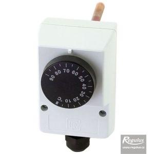 Regulus termostat provozní zakrytovaný s jímkou 0-90°C čidlo 6,5x100 10781