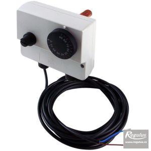 Regulus termostat zakrytovaný s jímkou dvojitý 0-90/100°C s čidlem Pt1000 14105