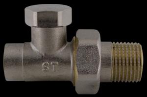 """409D Radiátorový regulační ventil přímý pájecí 1/2"""" x 15"""