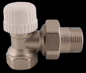 """417 Termostatický ventil radiátorový rohový DN15 - 1/2"""" PN10, Tmax 110°C"""